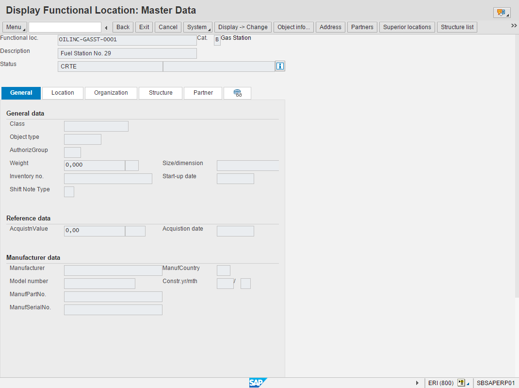 Fig. 4. Continuous Product Replenishment :: SAP ERP Master Data Overview