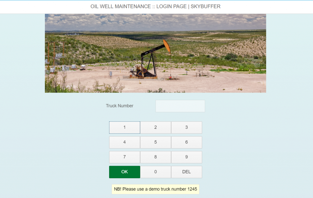 skybuffer_fiori_oil_well_maintenance_login