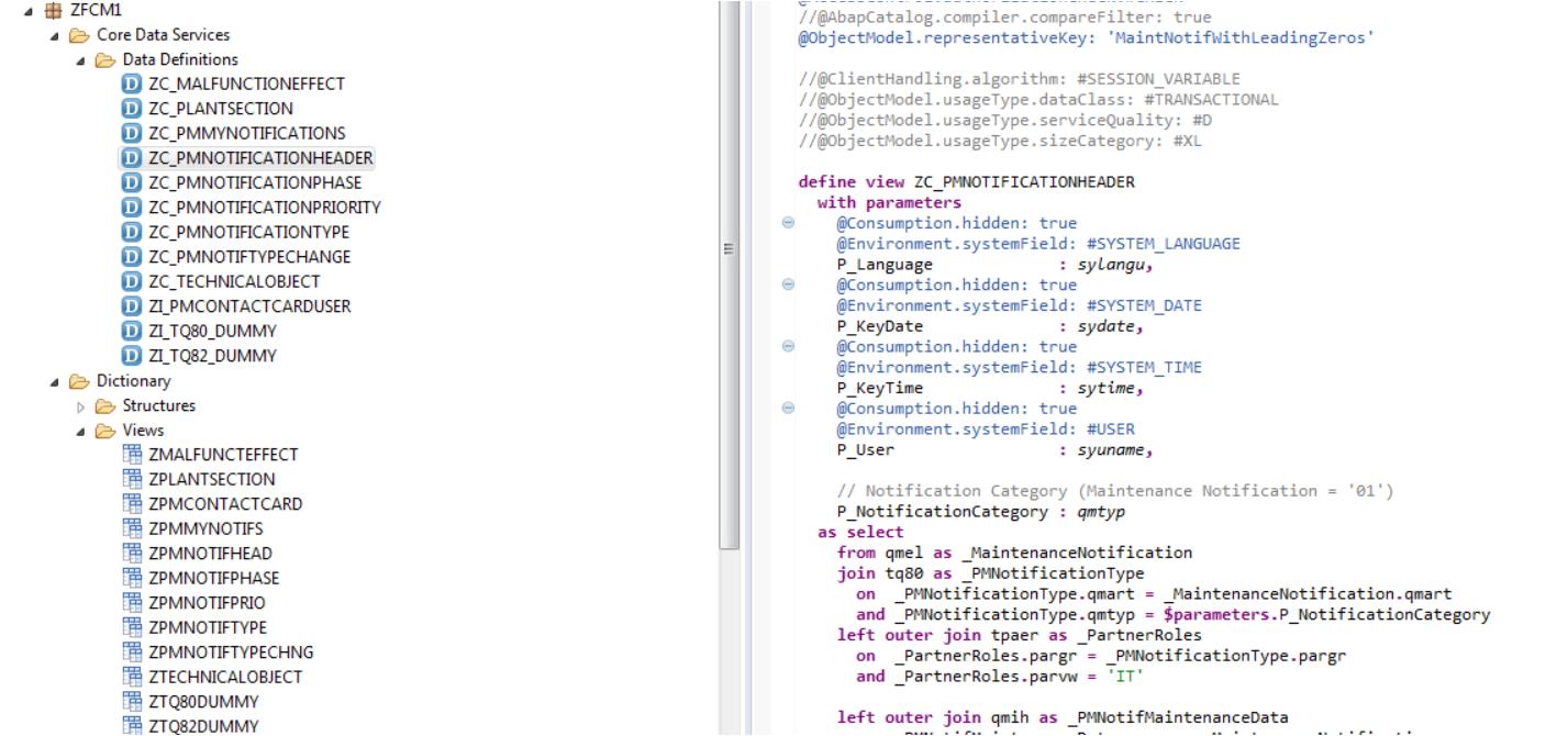C-create, R-read, U-update, D-delete OData Services Creation Using