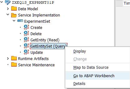 C-create, R-read, U-update, D-delete OData Services Creation